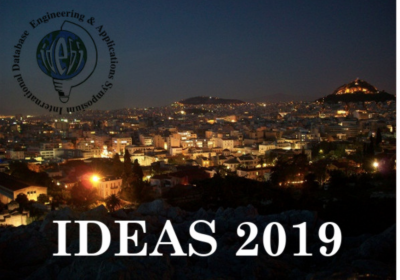 New MASTER paper accepted at IDEAS 2019