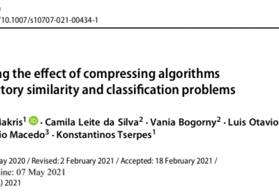 New journal paper published on trajectory compression