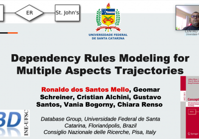 """Paper entitled  """"Dependency Rules Modeling for Multiple Aspects Trajectories """" by UFSC and CNR presented at ER21"""